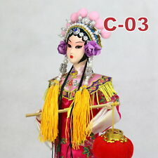 C-03 China Peking Oper chinesisch Puppe Figur Seide 31 cm Neu Geschenkidee OVP