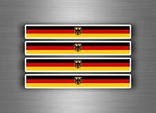 4x sticker adesivi adesivo vinyl auto moto tuning bandiera jdm germania royal