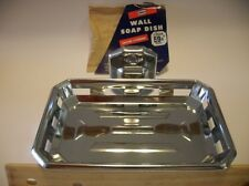 Vintage NOS AUTOYRE CHROME SOAP DISH Holder By Ekco Wall Mount Kitchen Bathroom