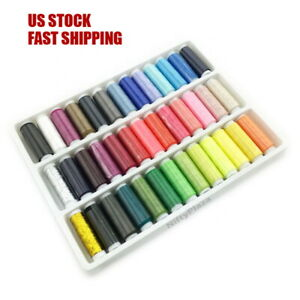 39 pcs Polyester Sewing Thread Assorted Color Spool Set Yarn Sewing Stitching