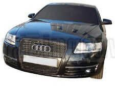 AUDI 2005-2007 A6 S6 C6 RS STYLE MATTE BLACK MESH FRONT GRILLE