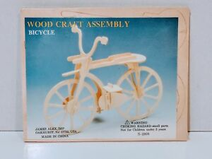 Wood Craft Assembly Bicycle Puzzle Toy Brand New Sealed