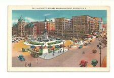 LAFAYETTE SQUARE AND MAIN STREET, BUFFALO, NEW YORK VINTAGE POSTCARD