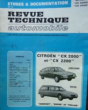 Revue technique CITROEN CX 2000 2200 ESSENCE CONFORT SUPER PALLAS RTA CIP 3542