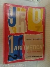 ARITMETICA E Amico G Marcotulli Palladium 1962 per scuola media gremese editore