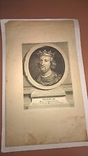 Antique Vintage Engraving of Henri III 18th/19th Century