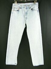 Vintage USA Made Levi's 501 Faded Light Blue Jeans Men's 34X32 actual 32X31.5