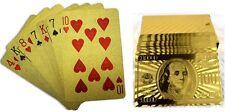 Poker Karten Gold 24k Dollar Skat Spielkarten Kartenspiel Plastik NEU hochwertig