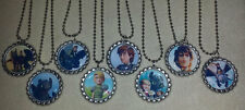 "SET OF 8- ""HOW TO TRAIN YOUR DRAGON"" Flat Bottlecaps Necklaces. Party favors!"