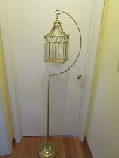 "Vintage Metal Stand holding Cage gold tone Usa Wedding school special event 63""t"