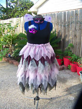 Dark Fairy Princess Coplay Renaissance Festival Halloween Costume Hand Made Plus