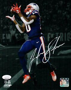 Josh Gordon New England Patriots Signed 8x10 Photo 500th TD Spotlight JSA