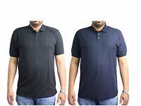 Mens Plain Casual Short Sleeve Polo Shirt Work Wear T Shirt Top BLACK NAVY M-5XL