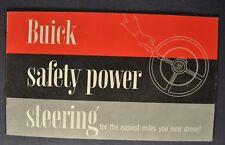 1954 Buick Power Steering Brochure Roadmaster Super Special Excellent Original