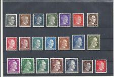 Deutsches Reich, 1941 Michelnrn: 781-798+826-827, postfrisch **,Katalogwert € 10