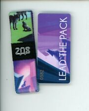 Kids Size ZOX Silver Strap LEAD THE PACK Wristband with Card Reversible