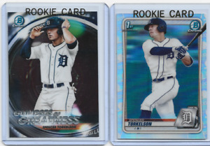 2020 1st Bowman Chrome Draft Spencer Torkelson REFRACTOR RC Rookie Card Tigers
