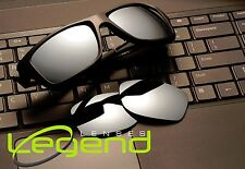 A19 Titanium Mirror POLARIZED Replacement Lenses For Oakley JUPITER SQUARED
