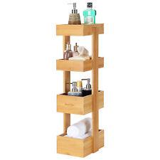Multifunctional Bathroom Shelf 4-Tier Storage Rack Tower Organizer Shelving Unit