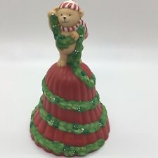 1991 Avon Porcelain Garland Of Greeting Christmas Bell Excellent Christmas Decor