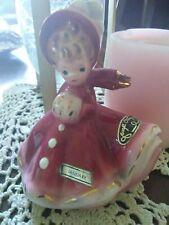 Stunning! Vintage Josef Originals Girl Figurine - January/Holidays