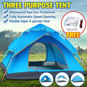 3-4 Personen Wurfzelt PopUp Automatikzelt Campingzelt Kuppelzelt Trekkingzel