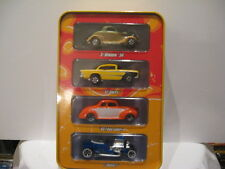 HOT WHEELS HOT RODS 4-PACK - TIN CONTAINER IN ORIGINAL SEALED SHRINK-WRAP