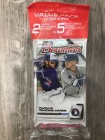 2020 Topps Bowman Baseball Factory Sealed Value Cello Hanger Pack! 29 Cards! WOW