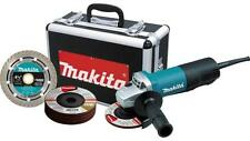 """NEW MAKITA 9557PBX1 4 1/2"""" ELECTRIC 7.5 AMP ANGLE GRINDER WITH CASE AND WHEELS"""