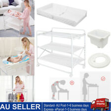 Baby Diaper Changing Foldable Table Bathe Touch Massage Crib w/ Storage