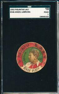 1952 Angel Labruna SGC = PSA 1 Rare Figuritas Lali Soccer Card!