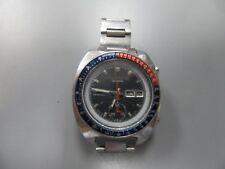 Vintage SEIKO 6139-6005 PEPSI POGUE AUTOMATIC CHRONOGRAPH STAINLESS Mens Watch
