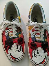 Rare Disney Vans Era Mickey Mouse Friends Sz Mens 9 Women's 10.5 Lace Up