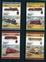 Tuvalu Nukufetau MiNr. 31-38 postfrisch MNH Eisenbahn Lokomotive (Eis546