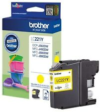 Brother Lc-221y D'origine Jaune Lc221y