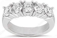 5 Diamond Wedding Ring Anniversary Band 1.11 carat total, F color VS/SI1 clarity