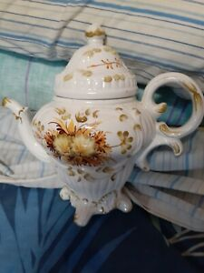large teapot made in italy hand painted 24cm high