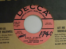 Louis Armstrong-Gary Crosby 45 Easy Street / Lazybones ~ VG+
