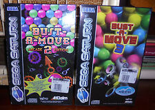 BUST A MOVE 2 + BUST A MOVE 3 (SEGA SATURN) PAL VERSION