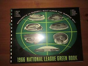 Original 1966 National League Green Book, EX Condition & Envelope