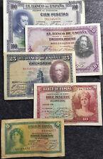 1928/35 Espana Spain 5,10,25,50 &100 Pesetas Banknote VF (+FREE 1 B/note)#D3707