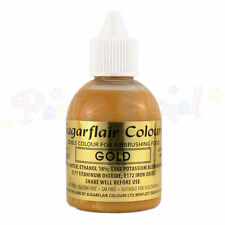 Sugarflair Metallic Pearl Airbrush Liquid Colour Food Colouring 60ml – Gold