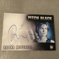 Radha Mitchell Signed Pitch Black Authentic Autograph Card Rare Rittenhouse