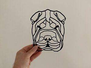 Geometric Shar Pei Pet Dog Animal Wall Art Decor Hanging Decoration