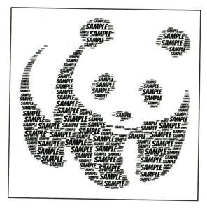 PERSONALISED PANDA WORDART BIRTHDAY CARD  - BOY/GIRL/CHILD - ANY NAME & COLOUR