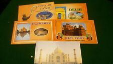 India postcards Delhi Taj Mahal Red Fort life & culture 5 books NEW #U
