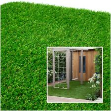 Artificial Grass Garden Turf Roll 1m x 4m 18mm Pile Height UV Resistant