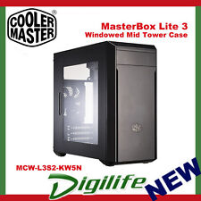 Cooler Master MasterBox Lite 3 Windowed Mid Tower Case Black mATX USB3.0x2
