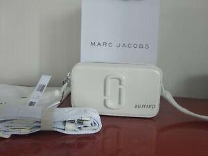Genuine Marc Jacobs Snapshot DTM Small Camera Crossbody moon white speical offer