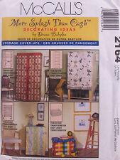 McCalls 2164 Sewing Pattern Storage Cover Ups More Splash Than Cash Uncut